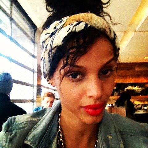 Cici Ali, Ford Models, with Red Lips